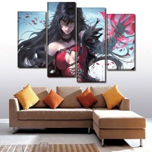 Canvas Paintings Wall Art Home Decor Girls Room Framework 4 Piece Anime Girl Velvet Crowe Pictures HD Prints Cartoon Poster