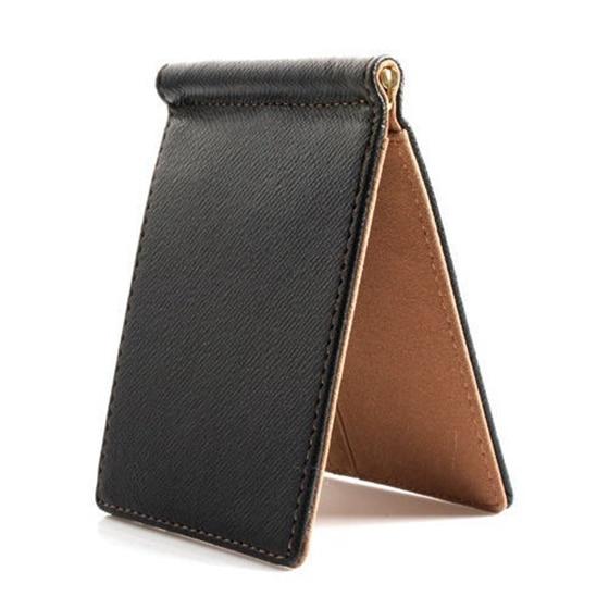Angemessen Faux Leder Schlanke Herren Kreditkarte Brieftasche Geld Clip Vertrags Farbe Einfache Design Brüniert Kanten Marke Neue Männer Bifold Brieftaschen Angenehme SüßE