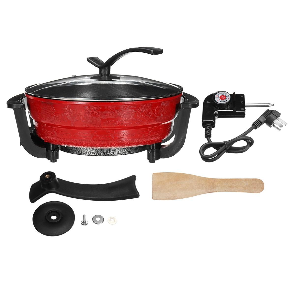 220 V 1300 W 6L électrique Hot Pot 32 cm cuisine soupe marmite ustensiles de cuisine antiadhésif pour cuisinières à Induction marmite - 6