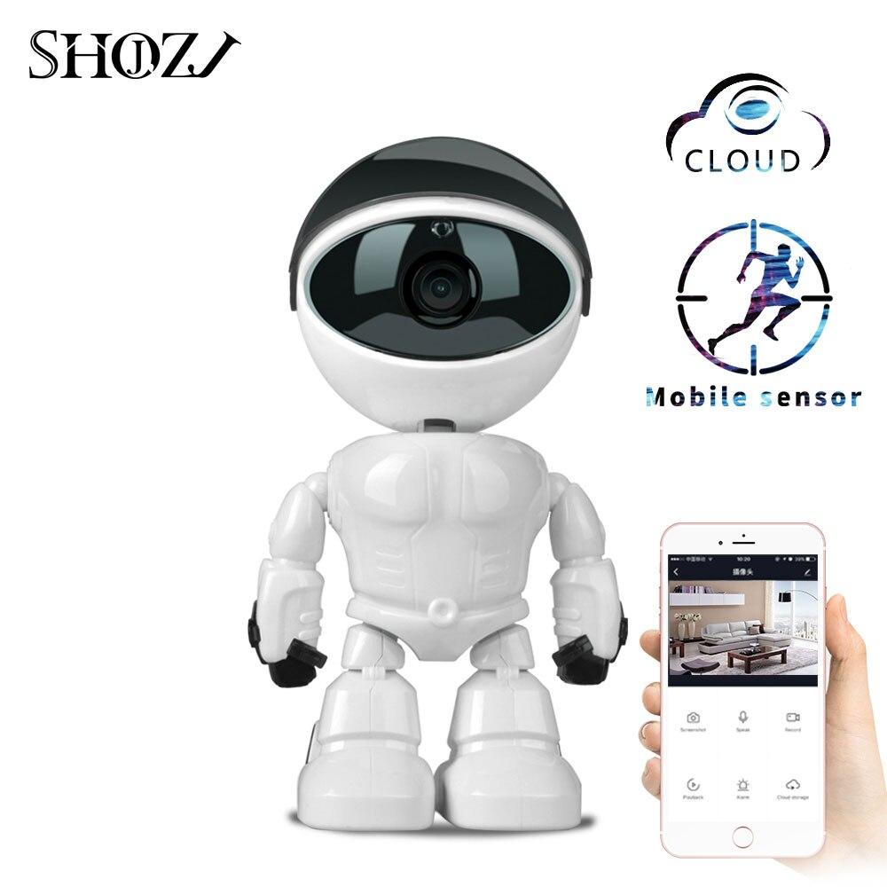 Moniteur bébé Robot caméra bidirectionnelle Audio 1080 P HD réseau IP Vision nocturne caméra de détection de mouvement Pet bébé moniteur vidéo nounou