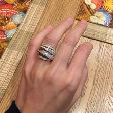 925 пробы Серебряное кольцо с цирконием aaa anillos de rings