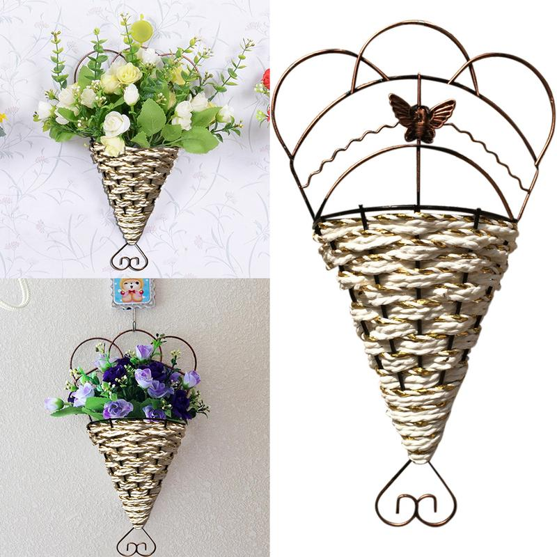 Hanging Flower Pot European Style Iron Flower Hanging ... on Decorative Wall Sconces For Flowers Hanging Baskets Delivery id=62689
