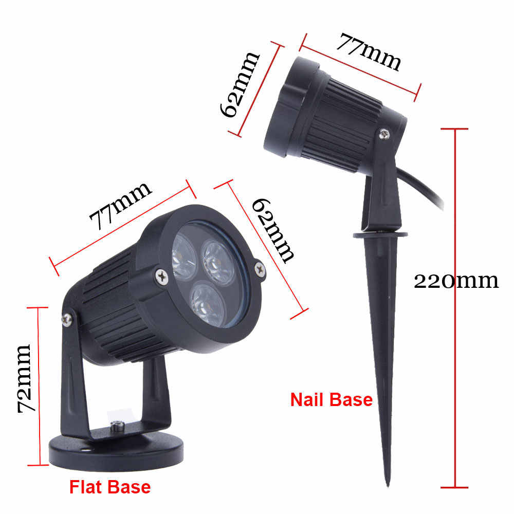 10pcs/lot outside light  9W garden lighting led outdoor Spotlight Lights  12V 24V 110- 240V Spike garden spotlight