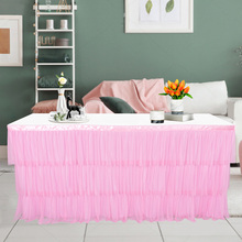 180 x 75cm Table Skirt Tutu Tulle Table Cloth For Party Dinner Wedding Decoration Home Decoration Table Decoration