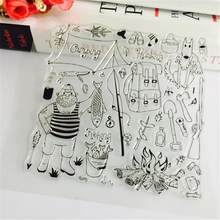 Cartoon Pattern Metal Carbon Steel Die Stencil Cutting Templates Decorative Scrapbooking Album Embossing Die DIY Cardstock Craft(China)