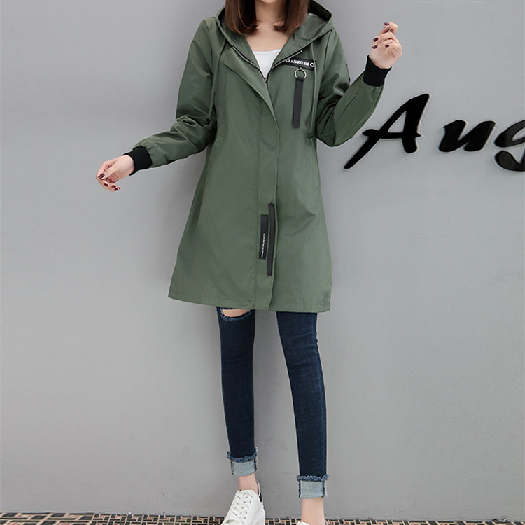 New Autumn Winter Hoodies Baseball Uniform Coats Pockets Women Fashion Long   Trench   Coat Casual Long Sleeve Loose Outerwear
