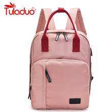 TULADUO New Design Usb Charge Women Backpack Canvas Large Capacity Travel Multi-function Shoulder Bag  Female Casual Laptop