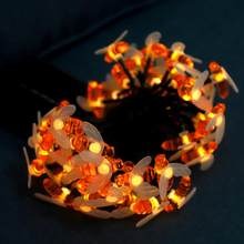 5M 50LED Bee Style String Lights guirlande Solar Garden Waterproof Fair Lights String Lighting for Courtyard Chrismas Decoration(China)