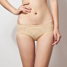 f2e05367e3f1 2 colores Fashon mujer Bragas de cintura baja almohadillas acolchadas sexi  levantador de nalgas cadera realzador