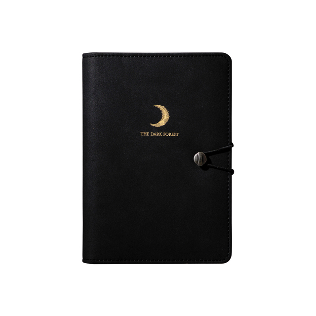 a6  Organizer Black Cover Spiral Notebooks Diary Planner and Journals Vintage Binder Monthly Planner Agenda