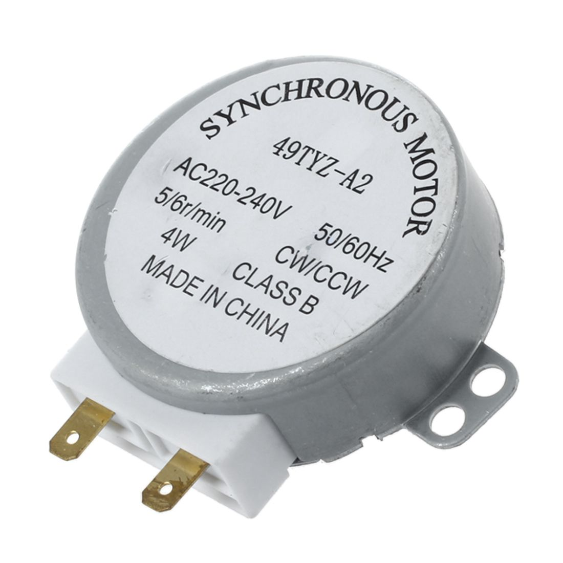 AC 220-240V 50/60Hz 5/6RPM 4W Turntable Synchronous Motor for miniwave Oven Microwave oven accessoriesAC 220-240V 50/60Hz 5/6RPM 4W Turntable Synchronous Motor for miniwave Oven Microwave oven accessories