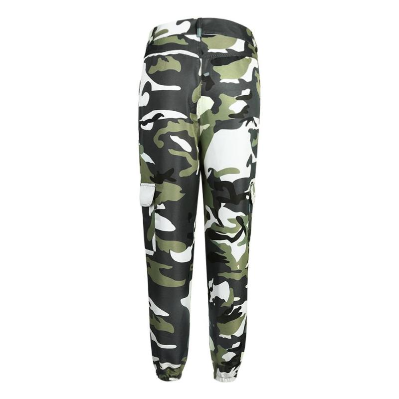 Spring Women Camo Print Casual Harem Pants Elastic High Waist Trousers