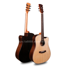 41 Half Cutaway Acoustic Guitars With Solid Spruce Top/Rosewood Body guitarra 20mm cotton bag,JD-D318C