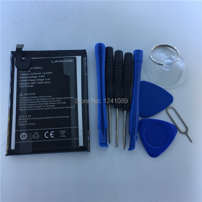 Mobile phone battery for UMI Umidigi S2 S2 Lite S2 Pro battery <font><b>5100mAh</b></font> High-quality Long standby time UMI S2 Mobile Accessories image