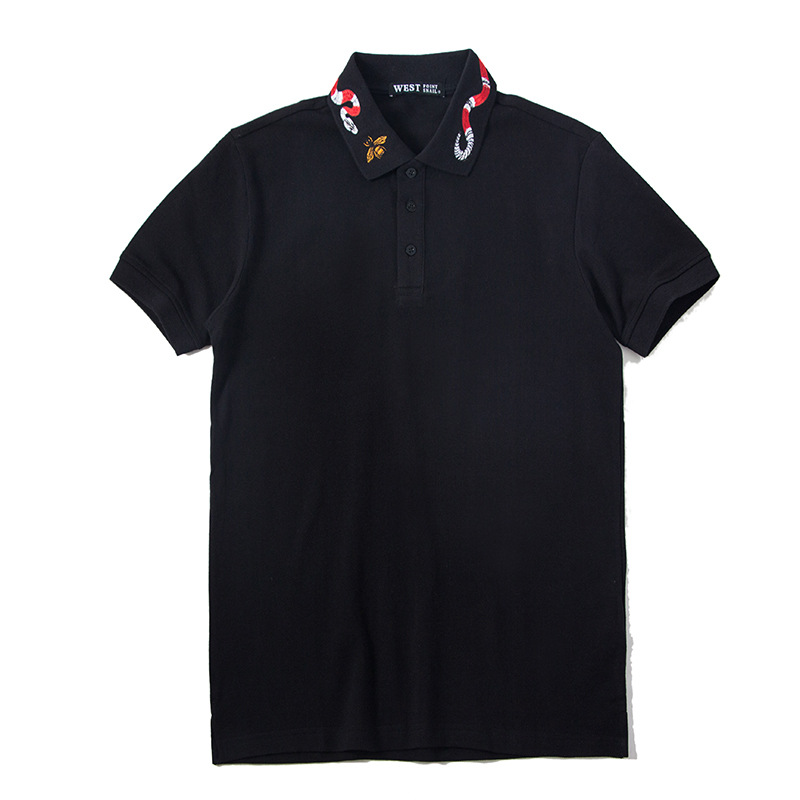 Summer Top Bee Embroidery   Polo   Shirt Men Brand Fashion Short Sleeve Turndown Collar   Polos   Masculina Ropa Hombre Verano 2018 B33