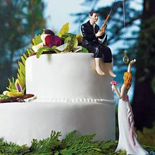 Resina Wedding Cake Topper Wedding Sposi Novelli Da Sposa Sposo Figura Decorazione Della Torta WXV Vendita(China)