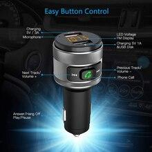 Szybka ładowarka samochodowa 3.0 do nadajnika FM xiaomi Bluetooth odtwarzacz muzyczny MP3 bezprzewodowy Adapter radiowy FM podwójna ładowarka USB