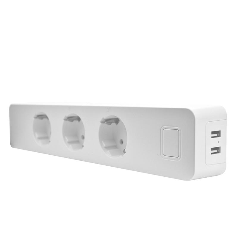 Usb Power Strip Socket With 2 Usb Standard Extension Socket Plug Power Strip Home Electronics Adapter EU Plug