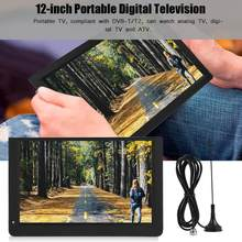 LEADSTAR 12inch 1080P Portable Mini 16:9 LED Handheld DVB-T/T2 Digital TV Television Player for US Plug(China)