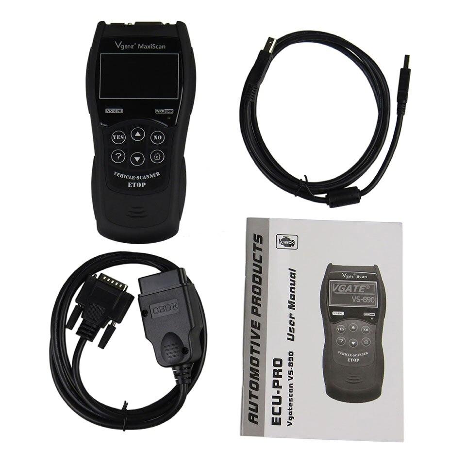 VGATE Scanner VS890 OBD2 voiture scanner de Diagnostic vgate MaxiScan VS890 OBD 2 outil de Diagnostic automatique VS-890 moteur de réinitialisation