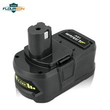 Floureon P108 RB18L40 литий-ионный аккумулятор высокой Ёмкость Перезаряжаемые Аккумулятор для Ryobi 18 V CAD-180L CP-180M P3310 Батарея 4A Замена