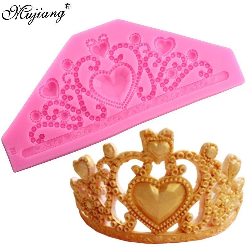 3D Корона Принцесса Королева силиконовая форма для кексов Топпер искусственное печенье конфеты
