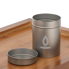 Titanium Container Storage-Case Cigarette Coffee-Beans Outdoor Camping Waterproof Portable