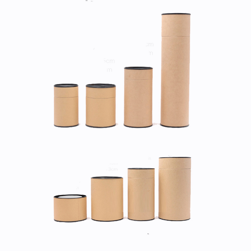 Xin Jia Yi Packaging Brown Box 2018 New Fashion Kraft Paper Gift Tube Birthday Party Tea Cookies Suitcase Paper Can Eco 5 Sizes