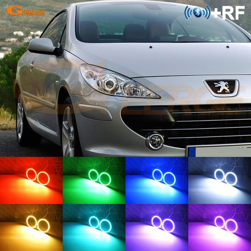 Pour Peugeot 307 2006 2007 2008 2009 2010 2011 2012 RF Bluetooth Contrôleur Multi-Couleur Ultra lumineux RGB LED ange Yeux kit