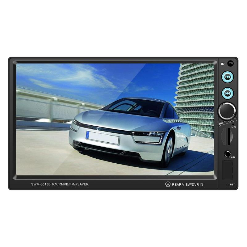 <font><b>T8013</b></font> 12V 7 Inch Universal Car Stereo MP5 Player Bluetooth Auto FM Radio USB AUX with Reverse Camera Brake Reminder Audio Player image