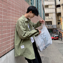 2019 Spring And Summer New Pattern Fashion Korean Man Easy Solid Color Lapel Long Sleeve Thin Shirt streetwear Free shipping fashion easy matched stripe pattern shirt