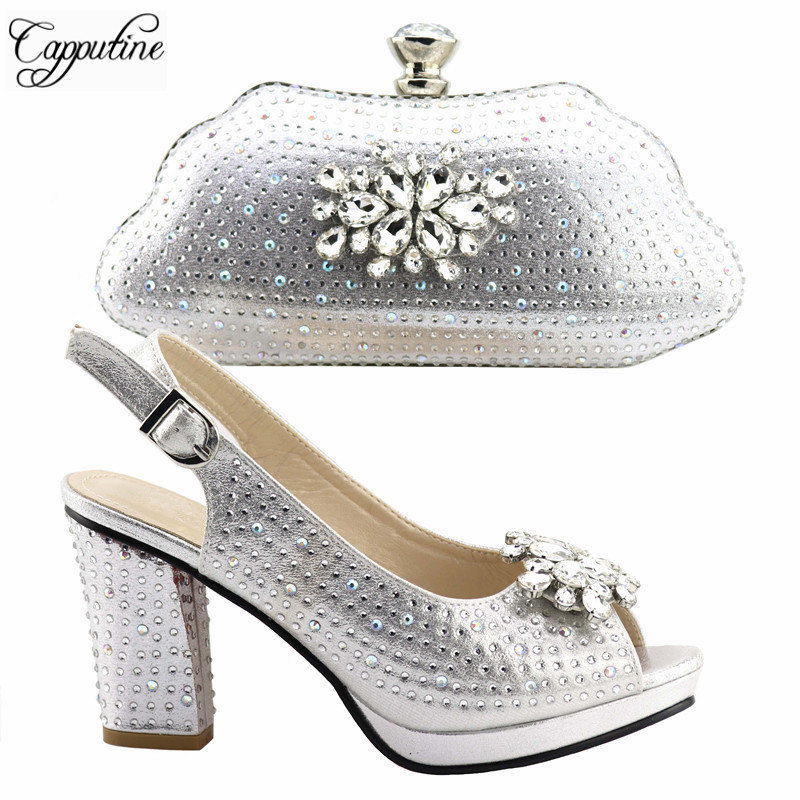 High Quality Woman Shoes And Bag Set For Party Fashion African Pumps Shoes With Matching Bag Set For New Year Party  TX-383High Quality Woman Shoes And Bag Set For Party Fashion African Pumps Shoes With Matching Bag Set For New Year Party  TX-383