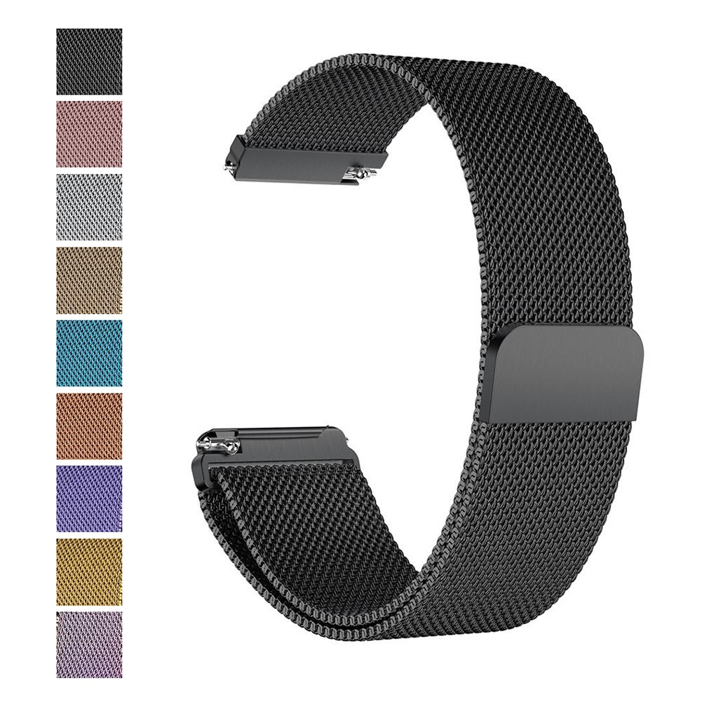 Magnetic Milanese Loop Metal Band Stainless Steel Wrist Band Strap For Fitbit Versa Fitbit Versa Lite Smart Watch Bracelet 210mm(China)