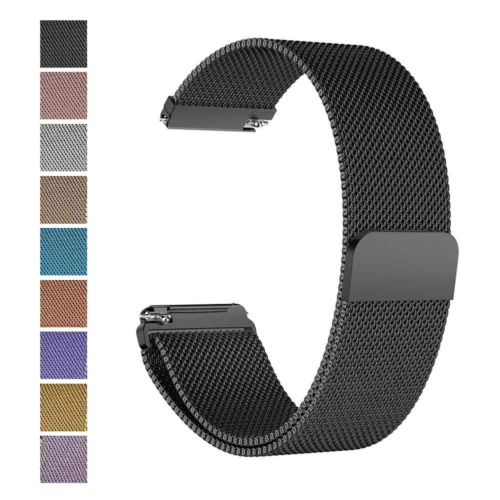Magnetic Milanese Loop Metal Band Stainless Steel Wrist Band Strap For Fitbit Versa Fitbit Versa Lite Smart Watch Bracelet 210mm