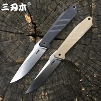 Sanrenmu S758 fixed blade knife with sheath 8Cr13MoV blade G10 handle edc outdoor camping hunting survival tactical fishing tool