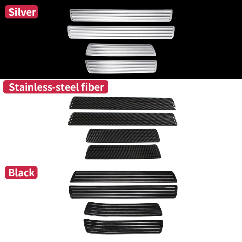 For Mercedes Benz GLE W166 350d 320 400 amg GLE coupe  c292  Door Sill Scuff Plate Welcome Pedal Trim Cover Sticker Accessories title=
