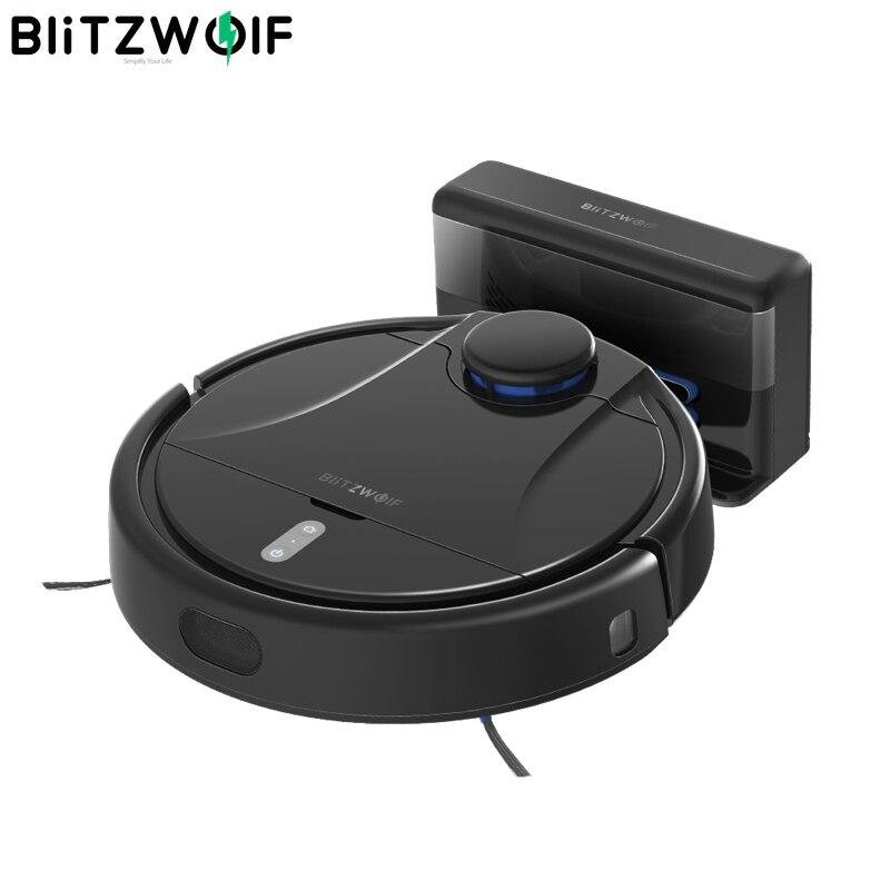 Blitzwolf Smart Robot Vacuum Cleaner Lsd Laser Navigation 2200pa 5200mah Smart Voice Control Via Alexa App Remote Control