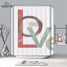 VOZRO Bathroom Shower Curtain Quality Natural Waterproof Polyester 2 M Cloth 3D Totem Simple Douchegordijn Bape Splatoon Cortina
