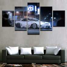 Posters Picture On Canvas Home Modular Wall Art Decoration Frame 5 Panel White Sports Car Living Room HD Modern Printed Painting