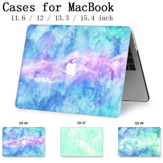 Для ноутбука MacBook Чехол для ноутбука рукав для MacBook Air Pro retina 11 12 13 15,4 дюймов с защитой экрана крышка клавиатуры