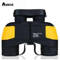 Hohe Qualität 10X50 Fernglas Entfernungsmesser Professionelle Nautischen Wasserdicht Schwimm Navigation Teleskop Militär Für Jagd