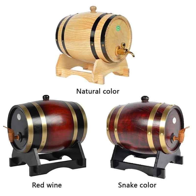 Decorative Barrel Keg Hotel Restaurant Display Rum Beer Brewing Keg for Beer,Vintage 3L Oak Wine Barrel Wine,Whiskey