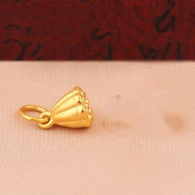 새로운 순수한 999 24 k 옐로우 골드 3d 펜던트 여성 남성 로터스 씨앗 펜던트 1 1.5g-에서행운부터 쥬얼리 및 액세서리 의  그룹 3