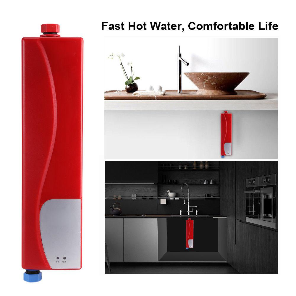 Instant Electric Mini Tankless Water Heater Hot Tankless Water Heater System For Kitchen European Plug