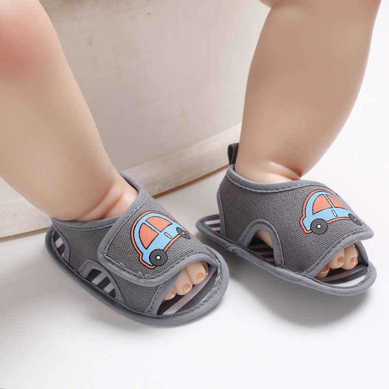 2019 ยี่ห้อใหม่ทารกแรกเกิดเด็กสาวฤดูร้อนนุ่มเด็กวัยหัดเดิน Prevalker ฤดูร้อนการ์ตูนพิมพ์รองเท้า Walkers แรก