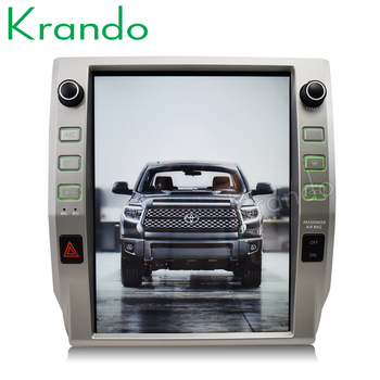 "Krando Android 8.1 12.1"" tesla Vertical screen car audio for Toyota Tundra 2014 2015 2016 2017 2018 GPS multimedia player"