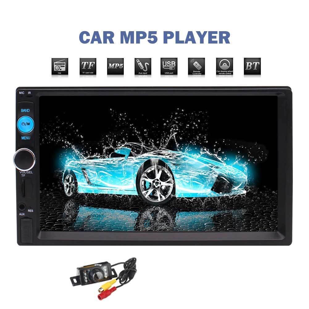 Eincar autoradio HD 7 pouces écran tactile Stéréo 2 Din Bluetooth FM ISO Puissance SD USB Entrée Aux MP4 Mp5 Lecteur avec caméra de recul