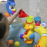Cute Baby Bath Duck/Dolphin Bathing Shower Baby Bathtub Kids Bambino Beach Tool Baby Bath Tub Products Neonato Coussin Wholesale
