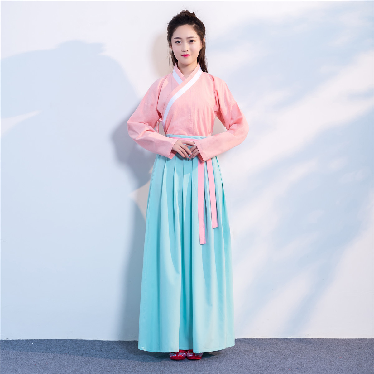 Chinese Traditional Ancient Costume for Women Chinese Fairy Dresses Dance Costume Elegant Princess Outfit Tops Dress