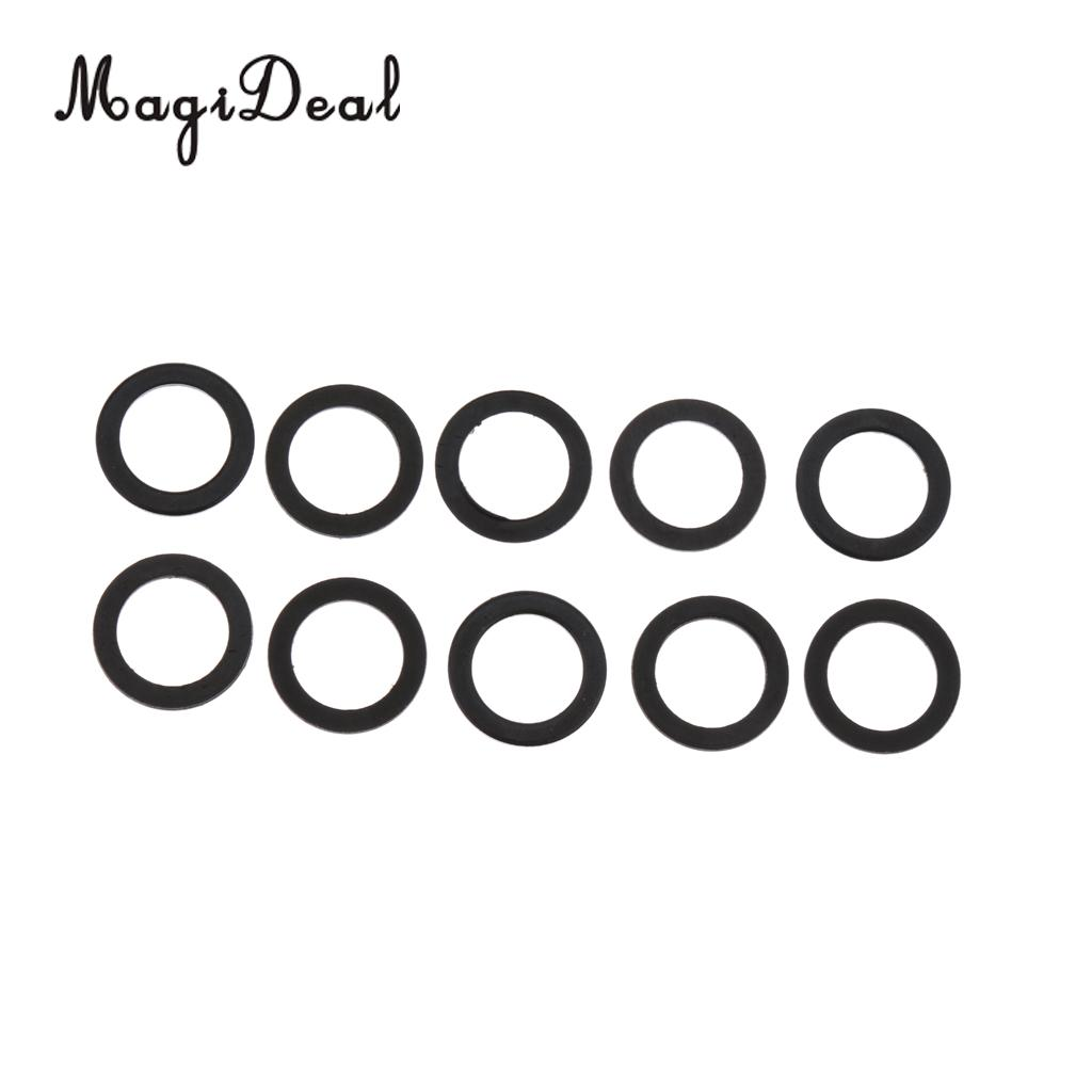 MagiDeal 10pcs Black Skateboard Truck Axle Speed Washer Speed Ring Longboard Hardware Skateboard Accessories Skateboard Parts